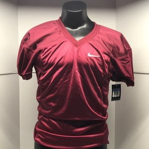 🆕 NIKE Mens Maroon Football Jersey Blank